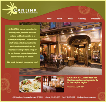 Cantina Restaurant Homepage